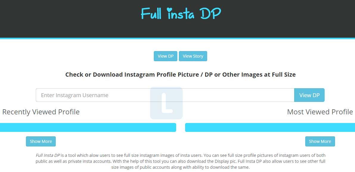 Cara Melihat Foto Profil Instagram Menggunakan Full Insta DP