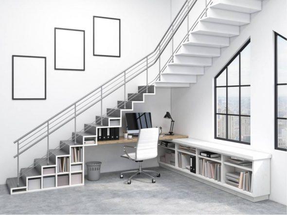 6 Ide Memanfaatkan Ruang Bawah Tangga Terbaik
